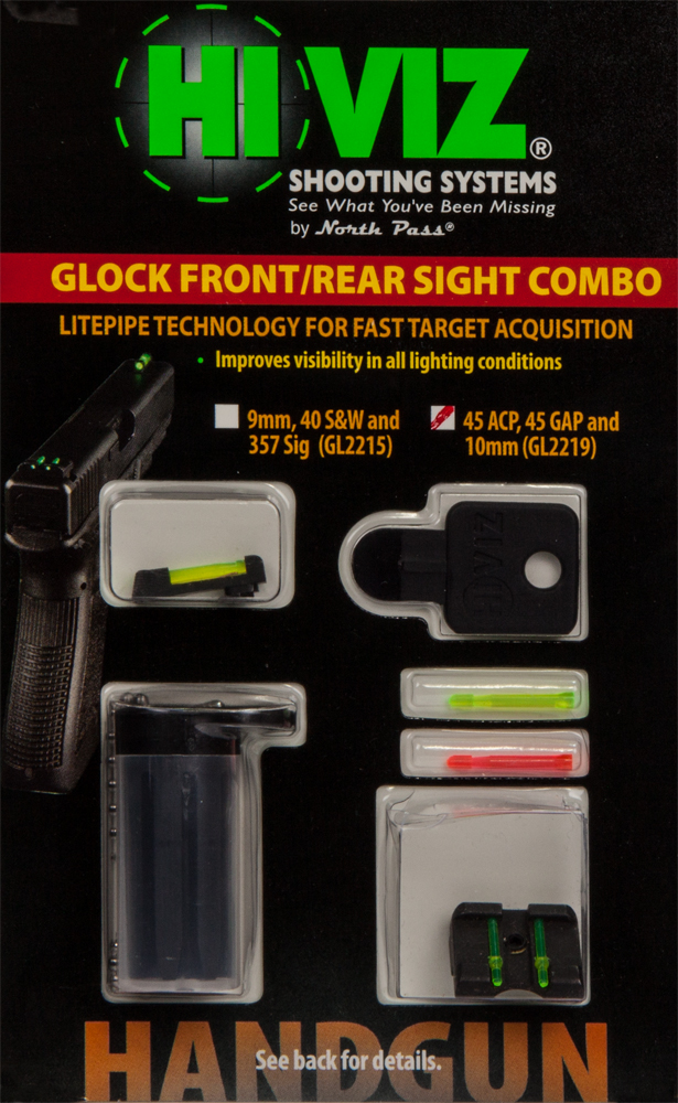 HI VIZ Front Rear Sight Glock