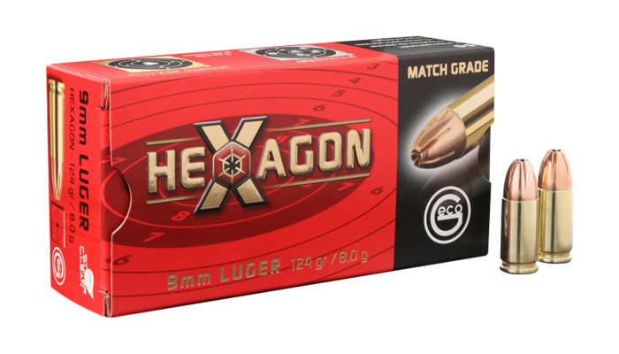 Geco 9mm Hexagon 124grs 9mm Pa