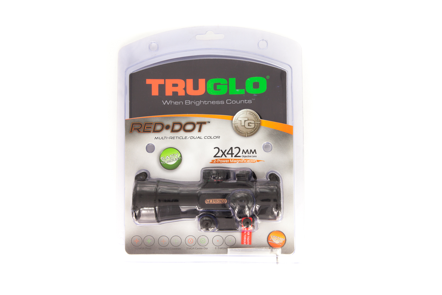 TRUGLO Red Dot 2x42 Dual Color