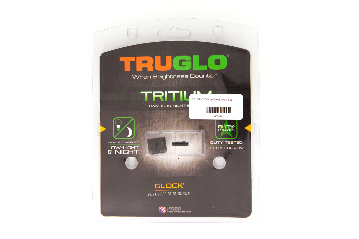 TRUGLO Tritium Glock High Set