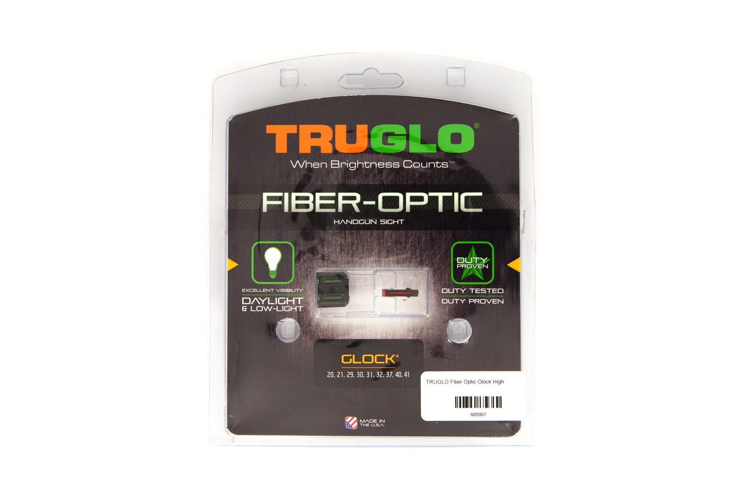 TRUGLO Fiber Optic Glock High