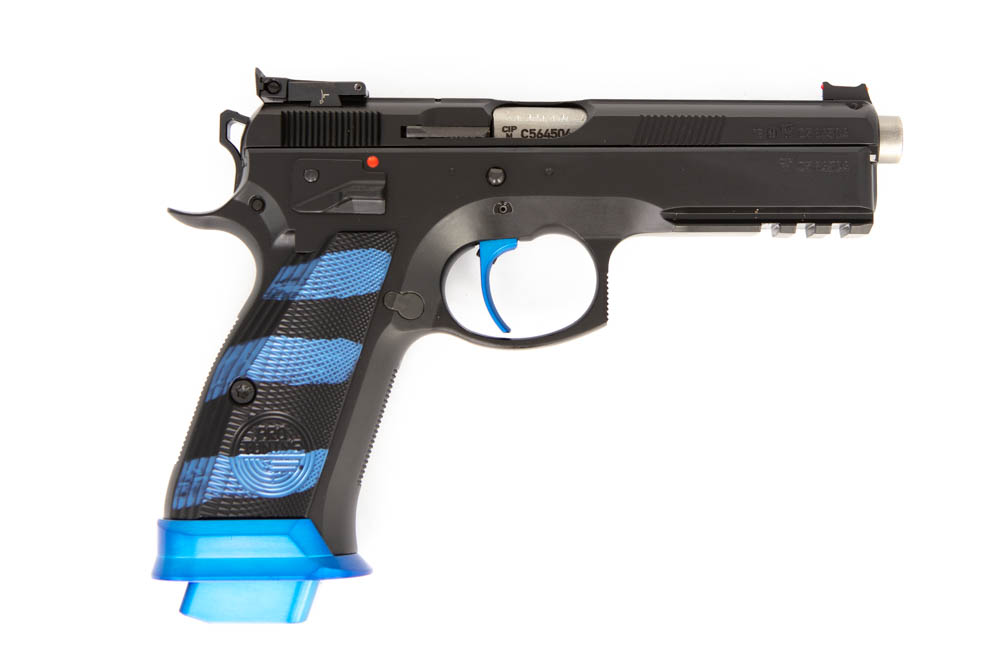 CZ 75 SP01 Shadow ProTun Blau