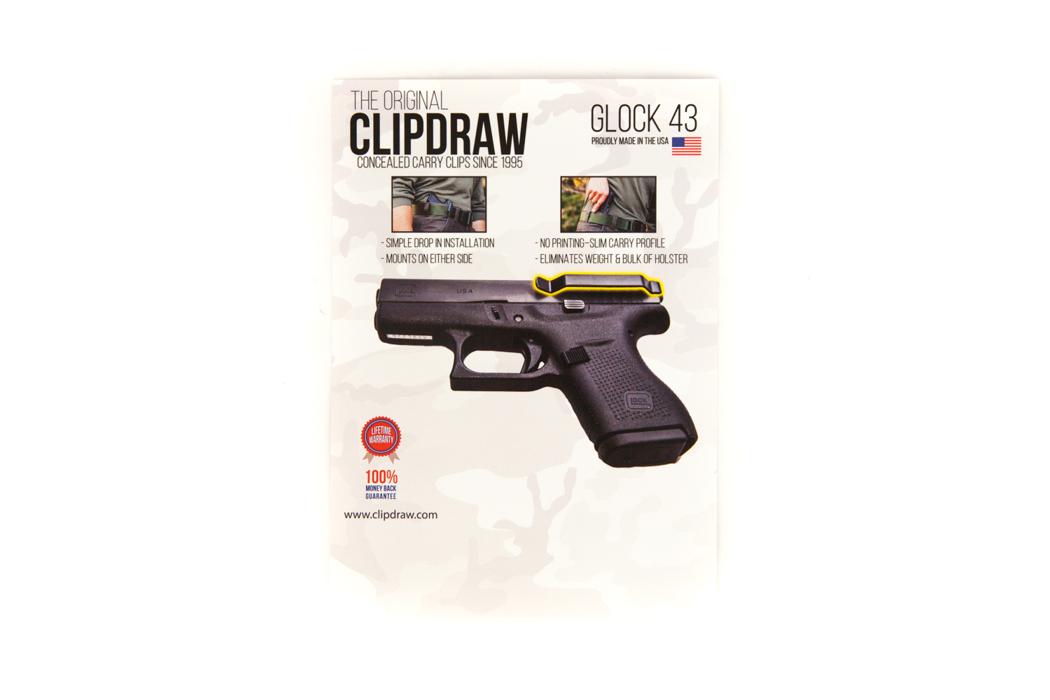 Clipdraw Glock 43