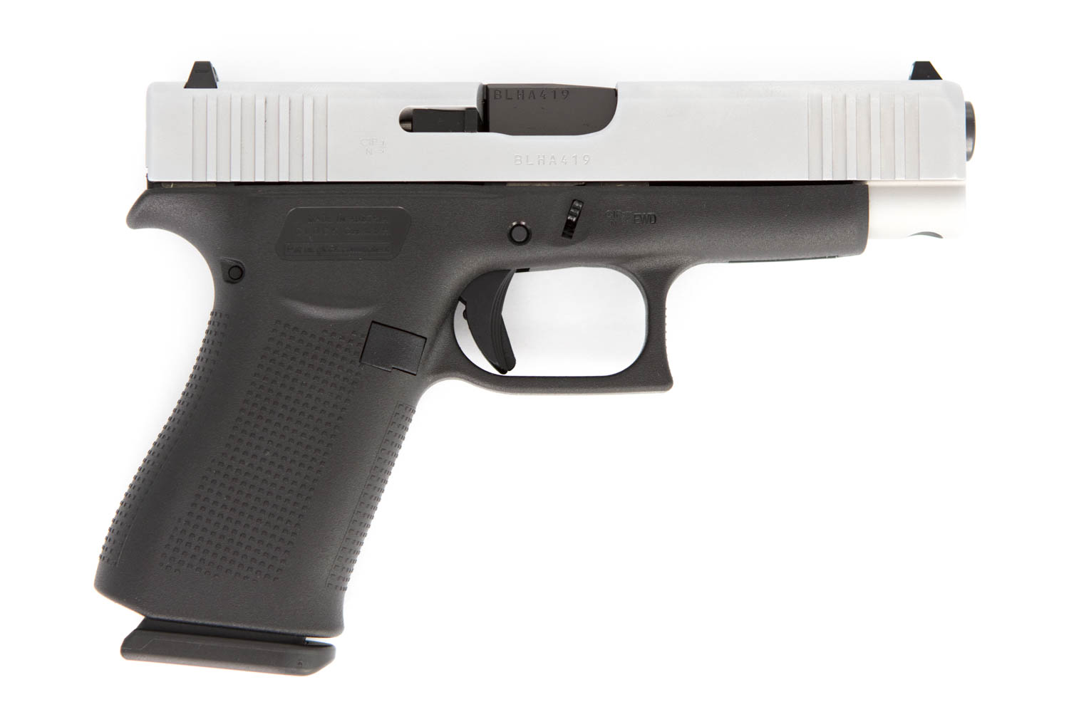 Glock 48 Silver Slide 9mm Luge