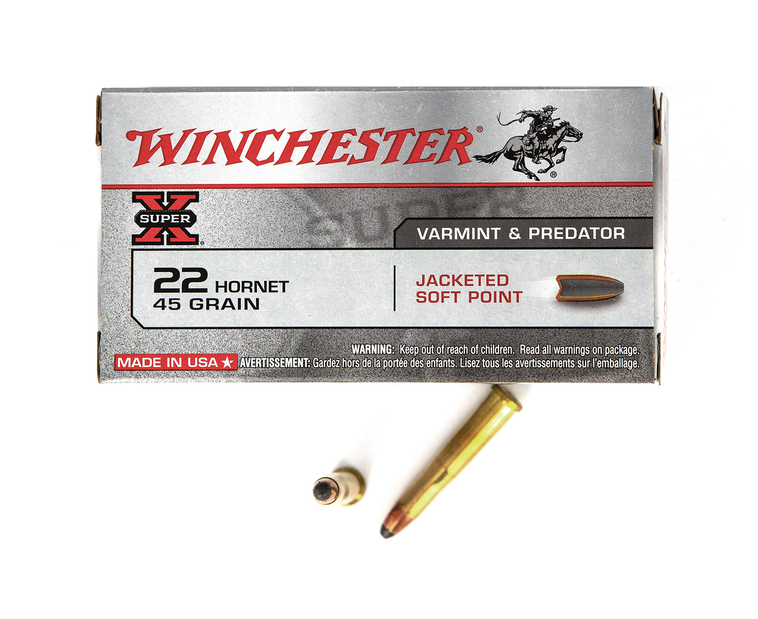 Winchester .22 Hornet 45gr Power Point