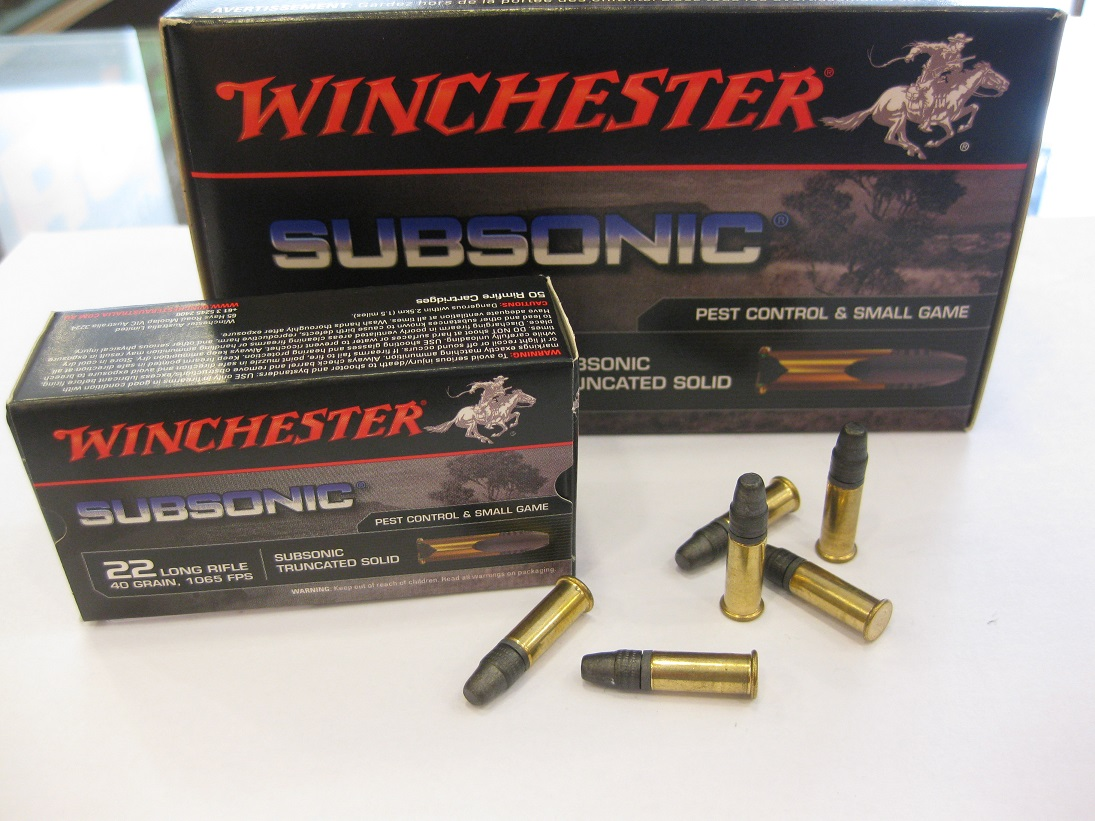 Winchester .22 lr Subsonic